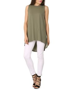 Izabel London Boxy Fit Top With Slits