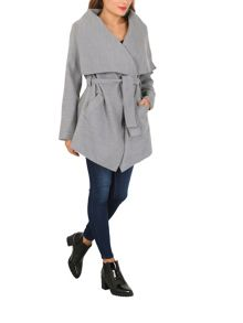 Izabel London Wraparound Jacket with Shawl Collar