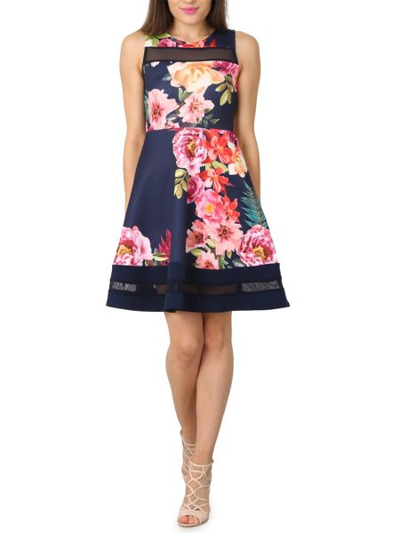 Izabel London Vintage Style Skater Dress