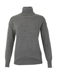 Long Sleeve Turtle Neck Knitted Pullover
