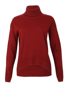 Izabel London Long Sleeve Turtle Neck Knitted Pullover