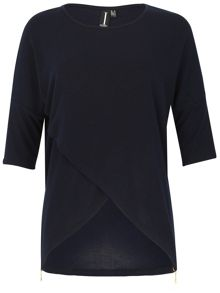 Izabel London Asymmetric Wrap Front Top
