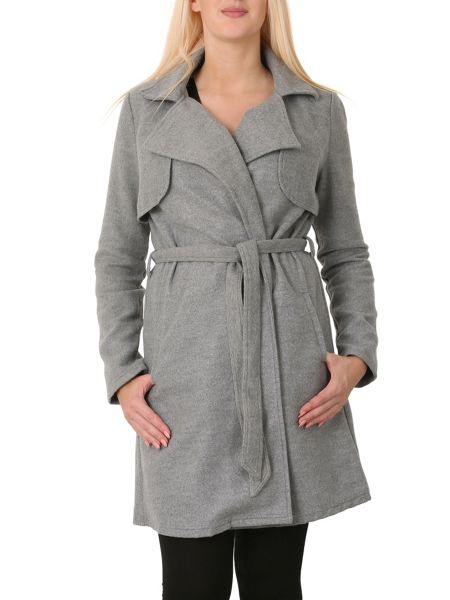 Izabel London Long Sleeve Tie Coat