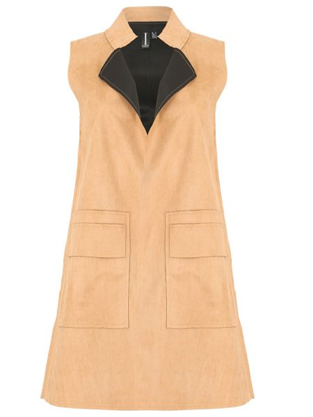 Izabel London Suedette Sleeveless Jacket