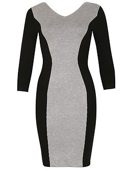 Colour Block Bodycon Midi Dress
