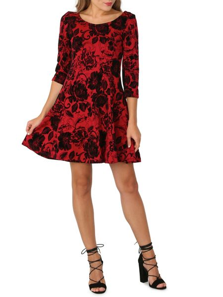 Izabel London Floral Print Skater Dress