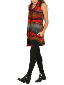 Izabel London Abstract Print Tunic