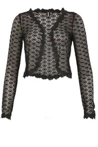 Izabel London Laced Sheer Effect Bolero
