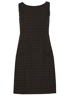 Dotted Shift Dress