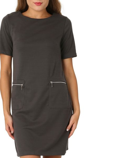 Izabel London Zip Pocket Shift Dress