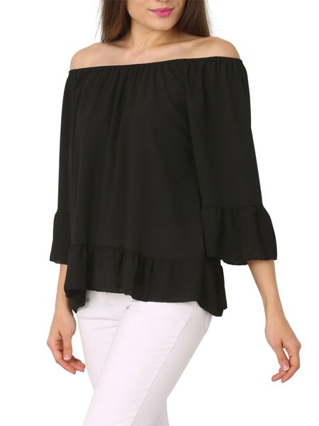 Izabel London Gypsy Style Feature Cuff Top