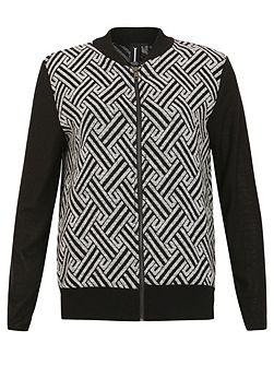 Zip-Up Contrast Bomber
