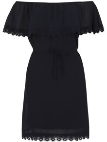 Izabel London Off The Shoulder Ruffle Dress