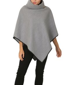 Izabel London Zip-Off Collar Cape