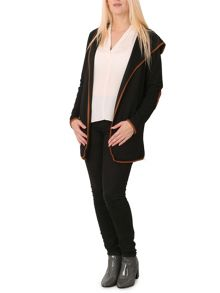 Izabel London Waterfall Jacket with Suede-Feel Details