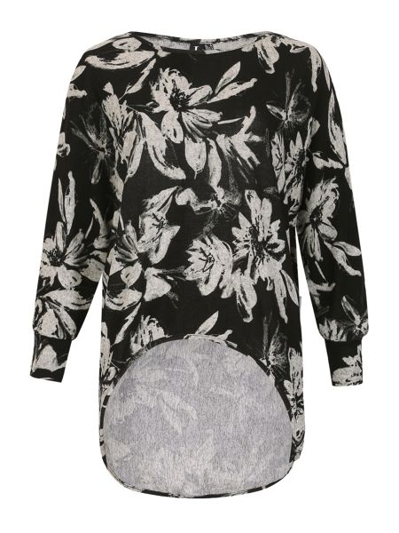 Izabel London Long Sleeve Floral Print Top
