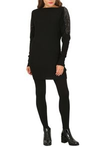 Izabel London Embellished Sleeve Mini Dress