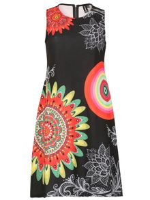 Izabel London Abstract Print Fit & Flate Dress