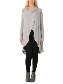 Izabel London Long-Line Waterfall Cardigan