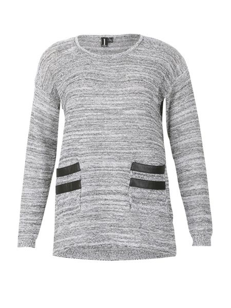 Izabel London Pockets Detailed Knitted Pullover