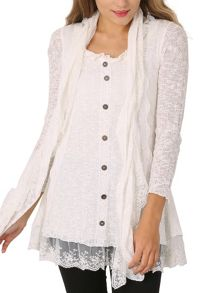 Izabel London Full Sleeve Top With Scarf