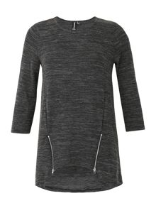 Izabel London Zipped Hem Tunic