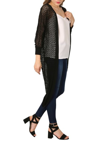 Izabel London Waterfall Drape Cardigan