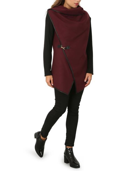 Izabel London Oversized Waterfall Drape Cardigan