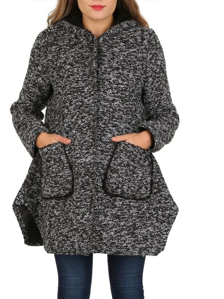 Izabel London Hooded Poncho Coat