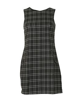 Tartan Print Shift Dress