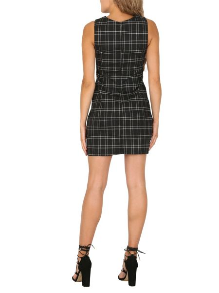 Izabel London Tartan Print Shift Dress
