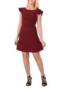 Izabel London Ruffle Sleeve Mini Dress