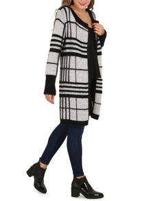 Izabel London Soft Touch Checked Coat