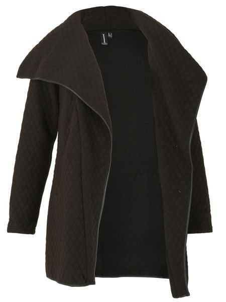 Izabel London Quilted Waterfall Jacket