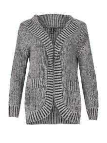 Izabel London Retro Knit Hooded Cardigan
