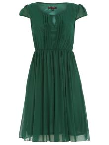 Cap Sleeve Chiffon Dress