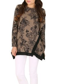 TENKI Full Sleeve Flower Print Jumper