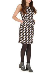 TENKI Sleeveless Geo Print Dress