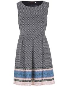TENKI Sleeveless Geometric Print Dress