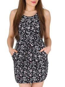 TENKI Flower Print Tulip Dress