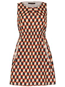 TENKI Round Neck Check Dress