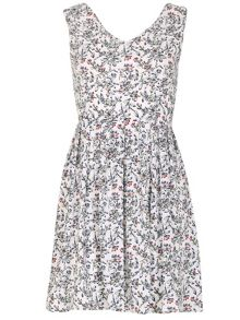 TENKI V-Neck Flower Print Dress