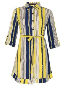 TENKI Stripped Shirt Dress