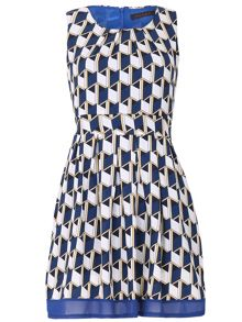 TENKI Geo Patterned A-Line Dress