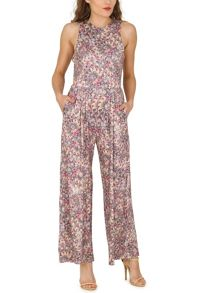 TENKI Sleeveless Patterned Jumpsuit