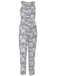 TENKI Sleeveless Floral Jumpsuit