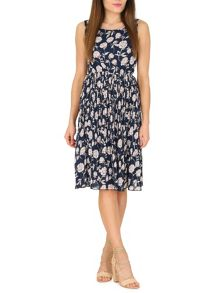 TENKI Flower Print Midi Dress