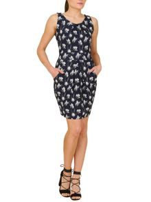 TENKI Tulip Print Bodycon Dress
