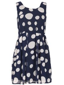 TENKI Polka Dot Skater Dress