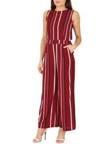 TENKI Sleeveless Striped Jumpsuit